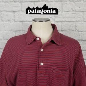 Patagonia Organic Cotton Polo Shirt Sz XL